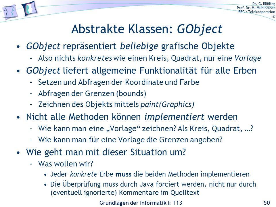 Abstrakte Klassen: GObject