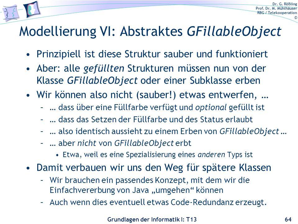 Modellierung VI: Abstraktes GFillableObject