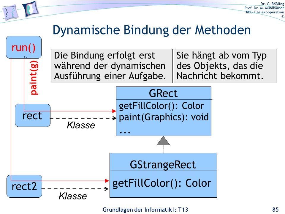 Dynamische Bindung der Methoden