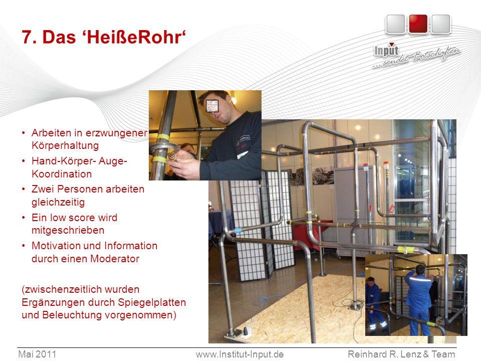 7. Das 'HeißeRohr' Arbeiten in erzwungener Körperhaltung