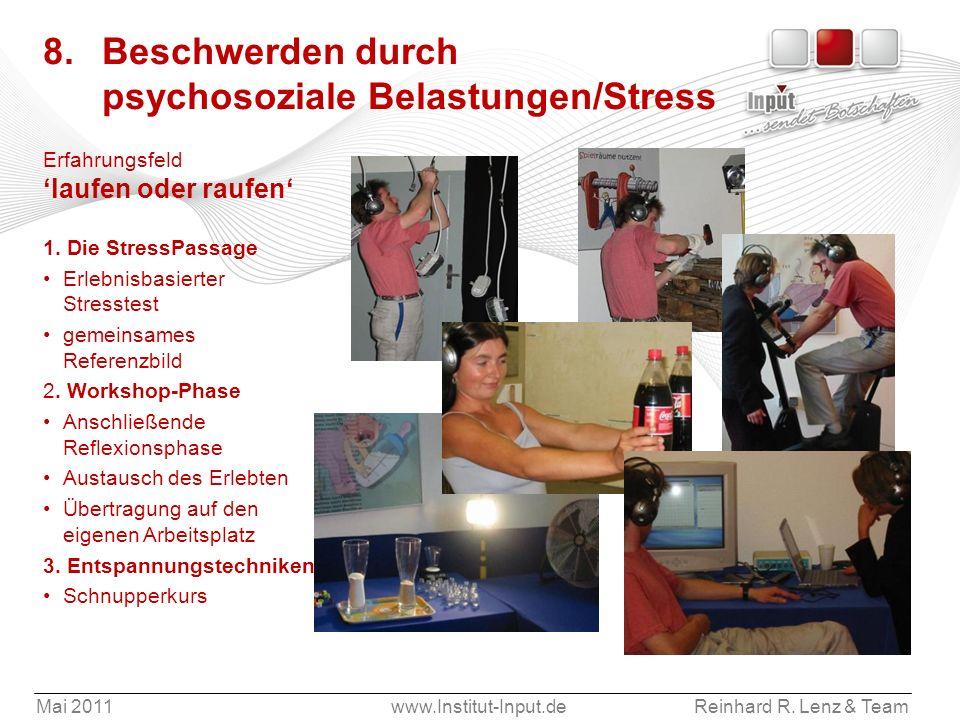 8. Beschwerden durch psychosoziale Belastungen/Stress