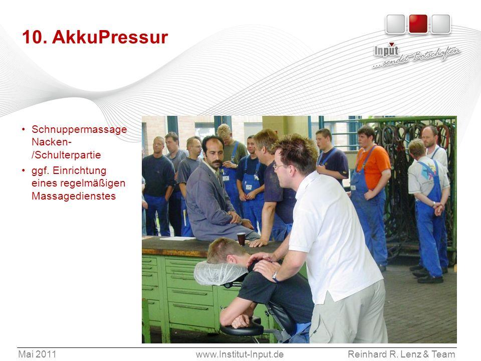 10. AkkuPressur Schnuppermassage Nacken-/Schulterpartie