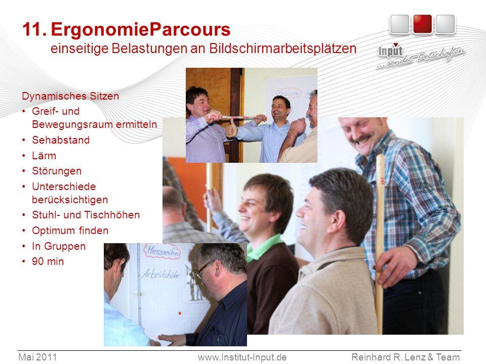 11. ErgonomieParcours einseitige Belastungen an Bildschirmarbeitsplätzen