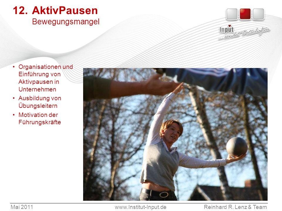 12. AktivPausen Bewegungsmangel