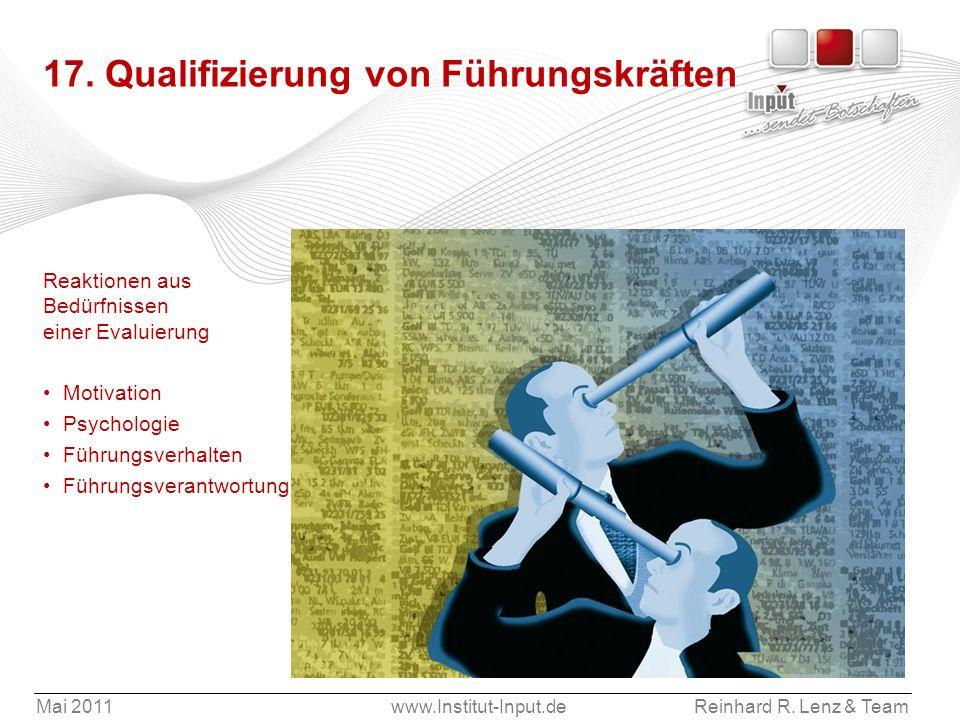 17. Qualifizierung von Führungskräften