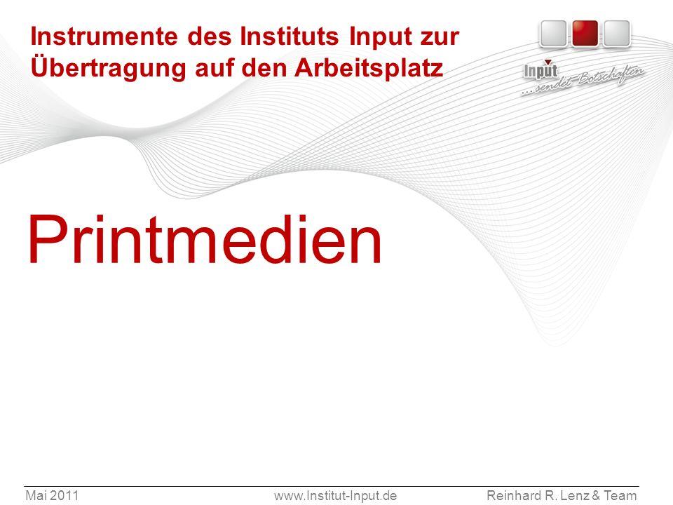 Instrumente des Instituts Input zur Übertragung auf den Arbeitsplatz
