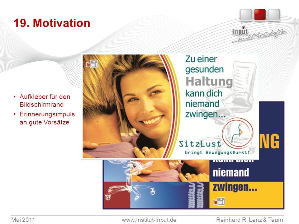 Aufkleber für den Bildschirmrand Erinnerungsimpuls an gute Vorsätze