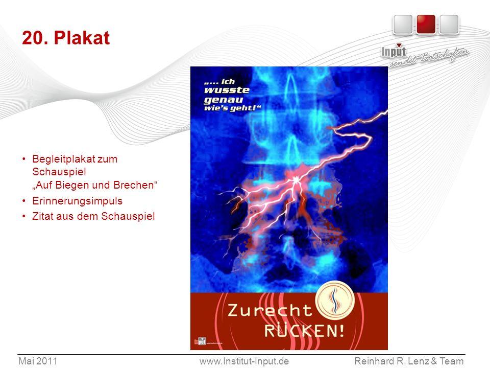 """20. Plakat Begleitplakat zum Schauspiel """"Auf Biegen und Brechen"""