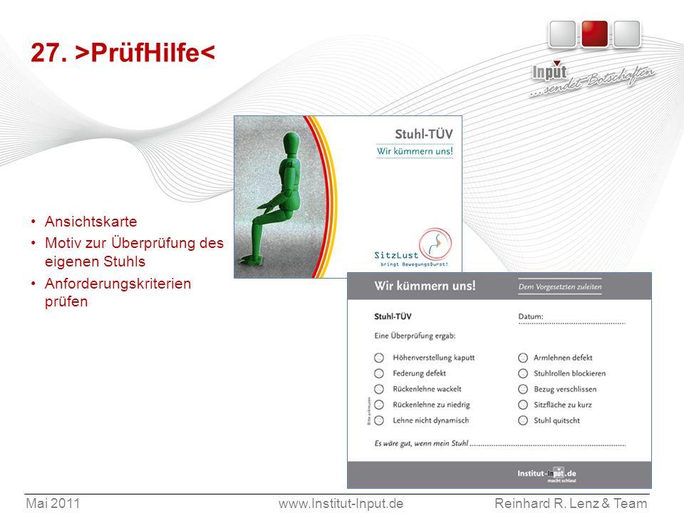 27. >PrüfHilfe< Ansichtskarte