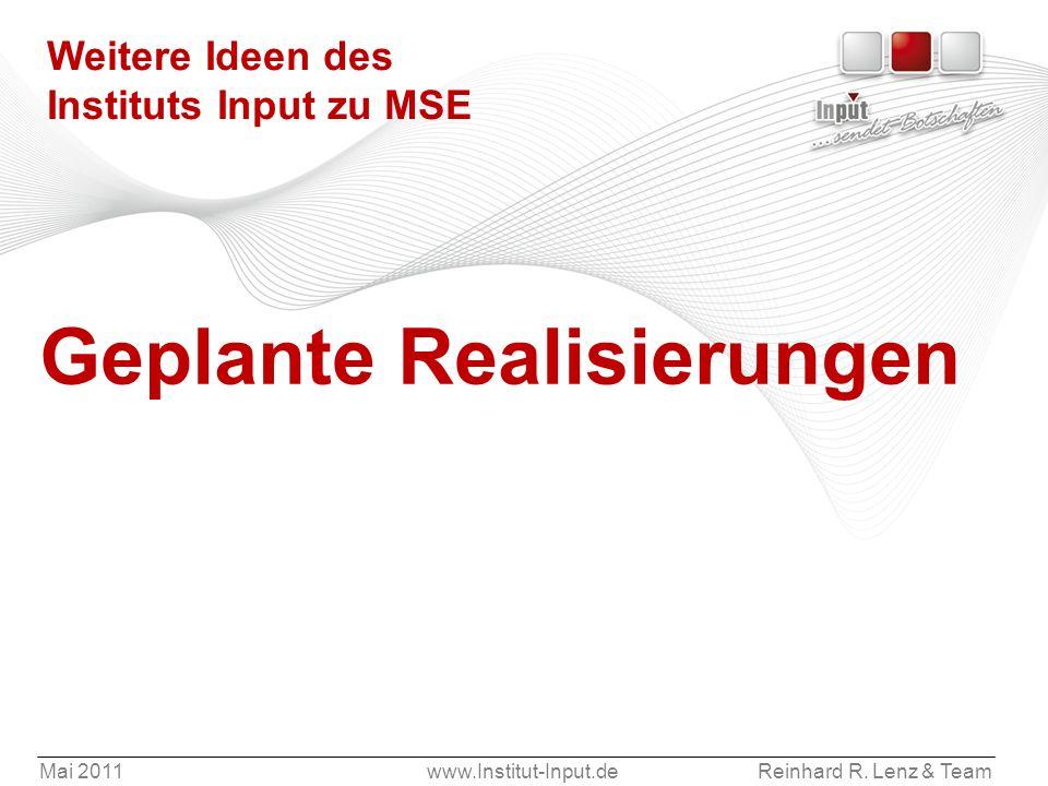 Weitere Ideen des Instituts Input zu MSE