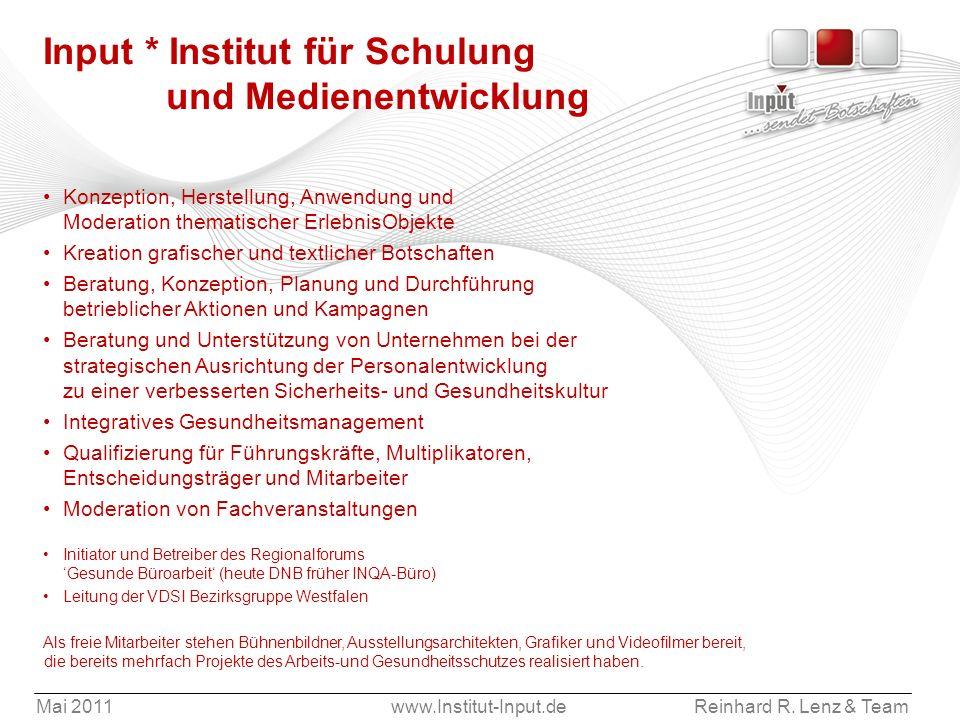 Input * Institut für Schulung und Medienentwicklung