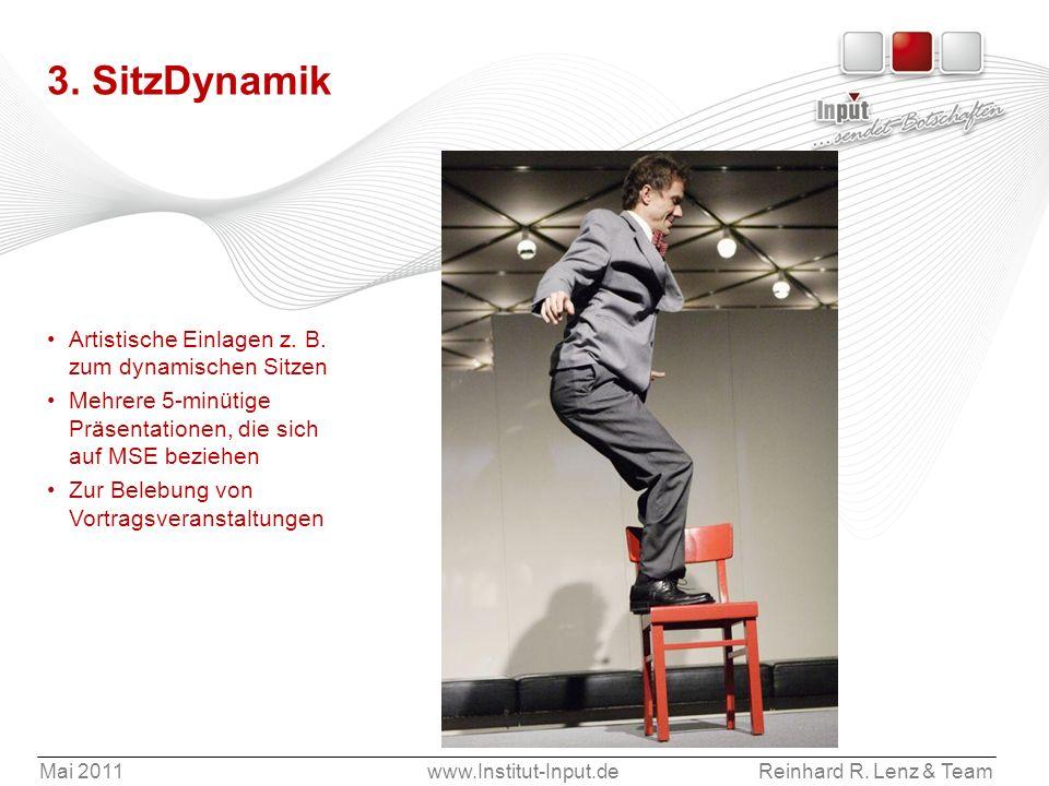 3. SitzDynamik Artistische Einlagen z. B. zum dynamischen Sitzen