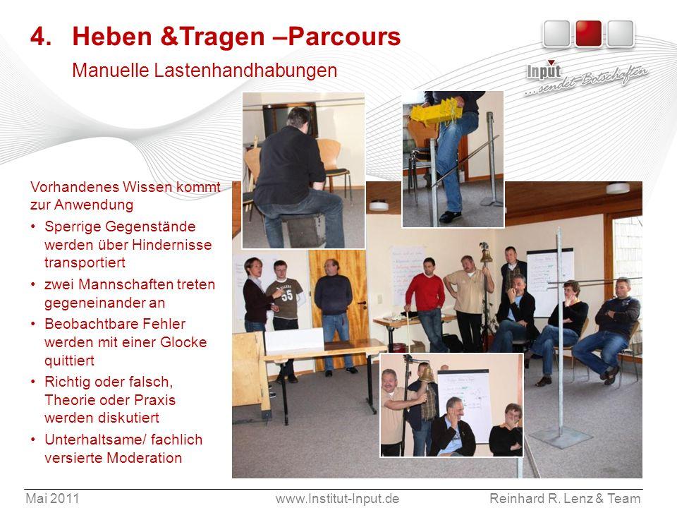 4. Heben &Tragen –Parcours Manuelle Lastenhandhabungen