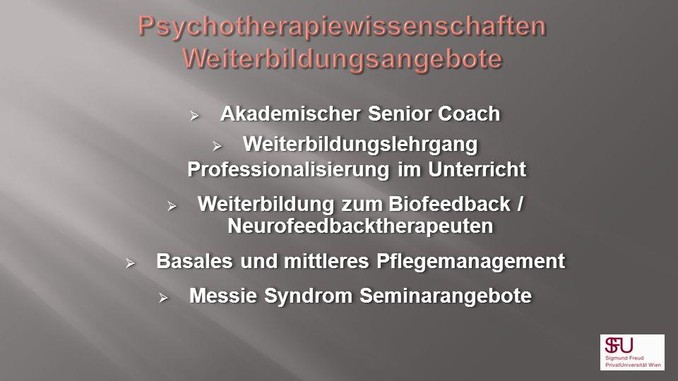 Psychotherapiewissenschaften Weiterbildungsangebote