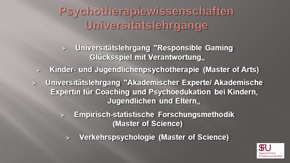 Psychotherapiewissenschaften Universitätslehrgänge