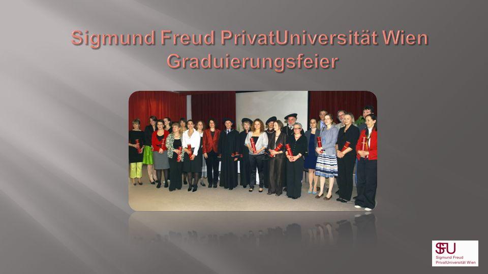 Sigmund Freud PrivatUniversität Wien Graduierungsfeier
