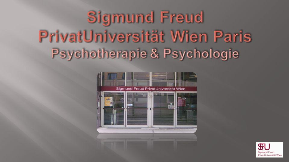 Sigmund Freud PrivatUniversität Wien Paris Psychotherapie & Psychologie