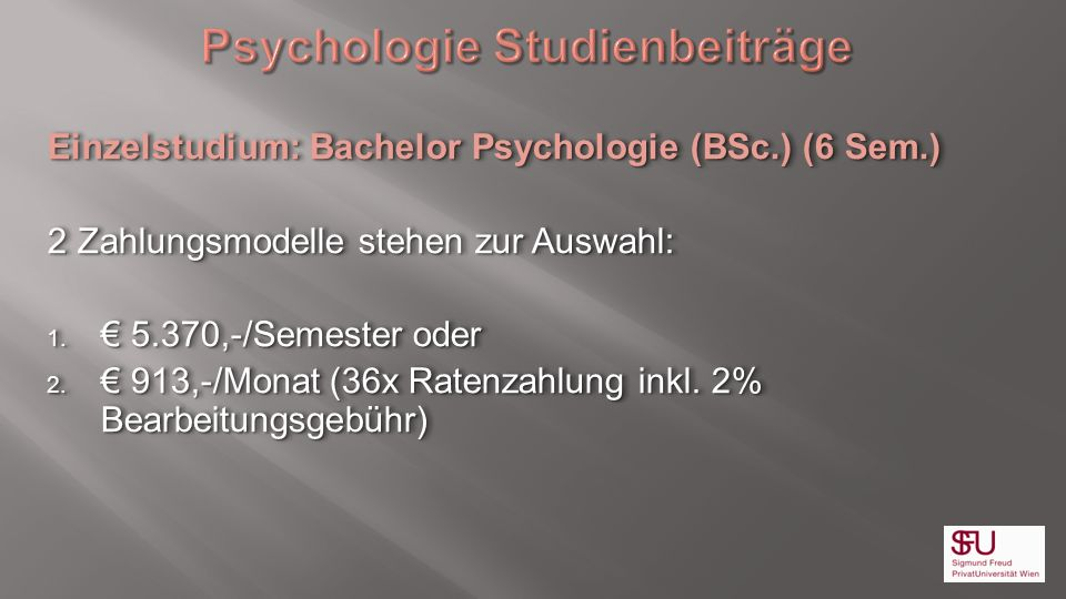 Psychologie Studienbeiträge