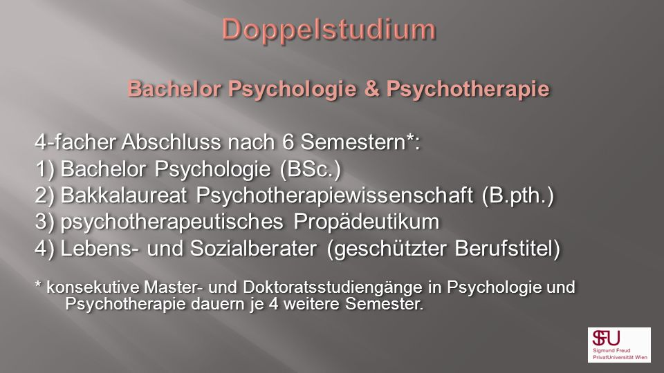 Bachelor Psychologie & Psychotherapie