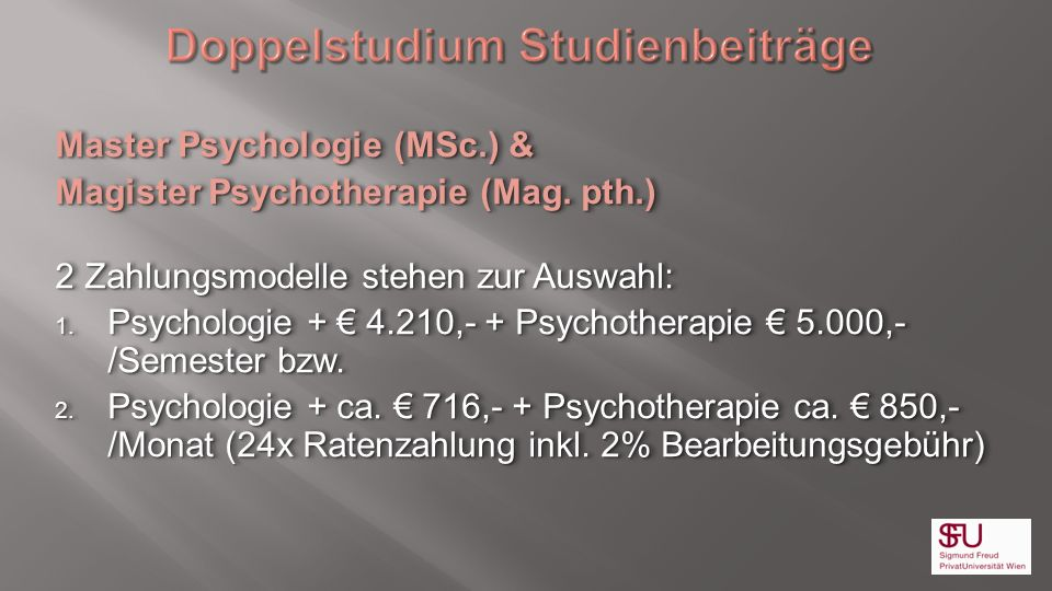 Doppelstudium Studienbeiträge
