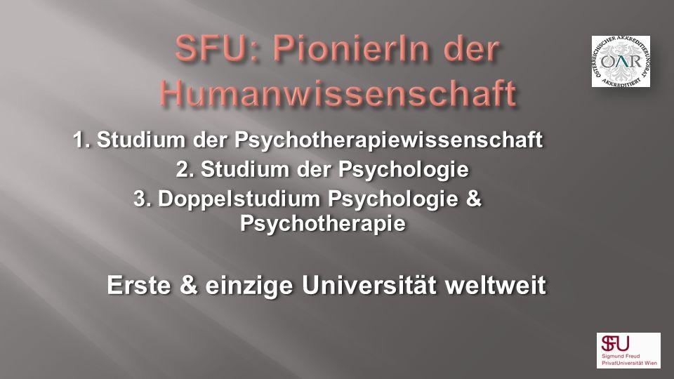 SFU: PionierIn der Humanwissenschaft