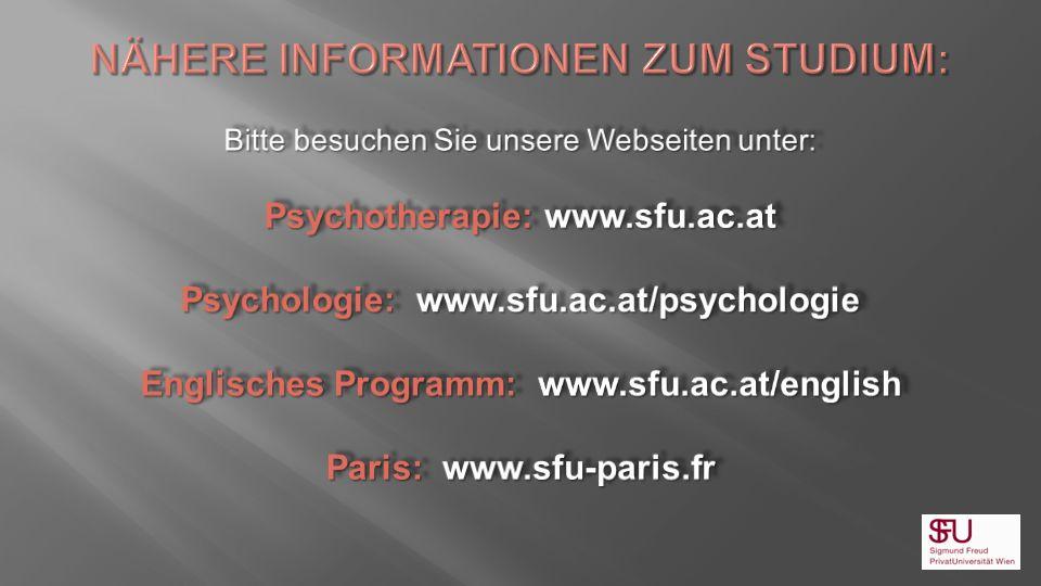 Nähere Informationen zum Studium: