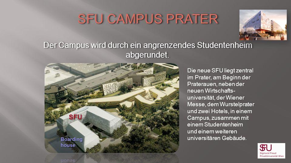 Der Campus wird durch ein angrenzendes Studentenheim abgerundet.