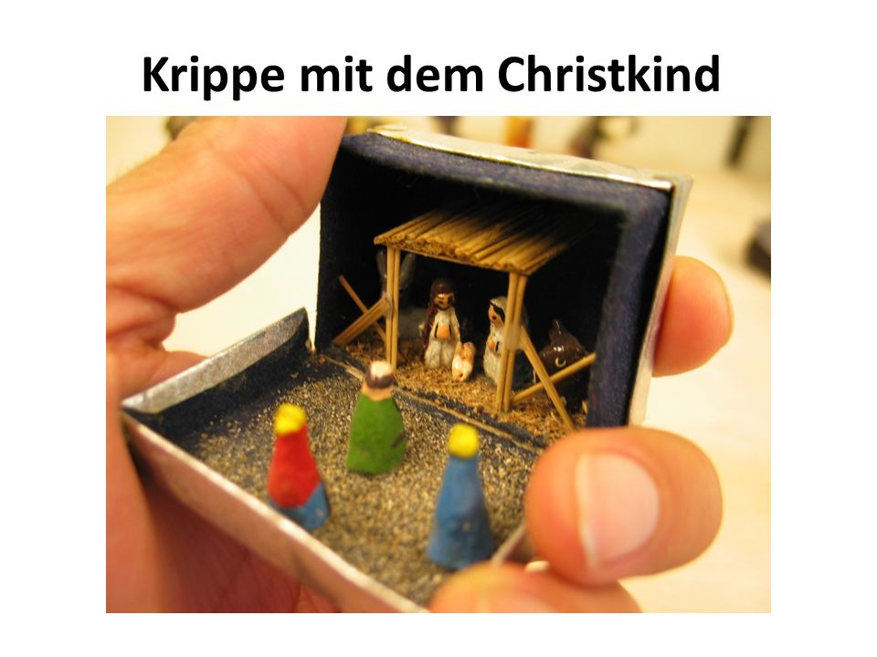 Krippe mit dem Christkind