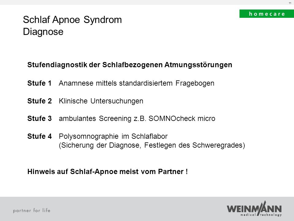 Schlaf Apnoe Syndrom Diagnose