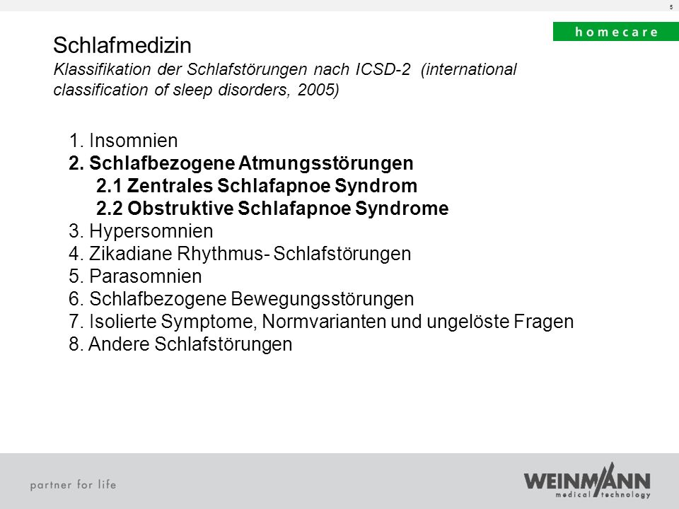 Schlafmedizin 1. Insomnien 2. Schlafbezogene Atmungsstörungen