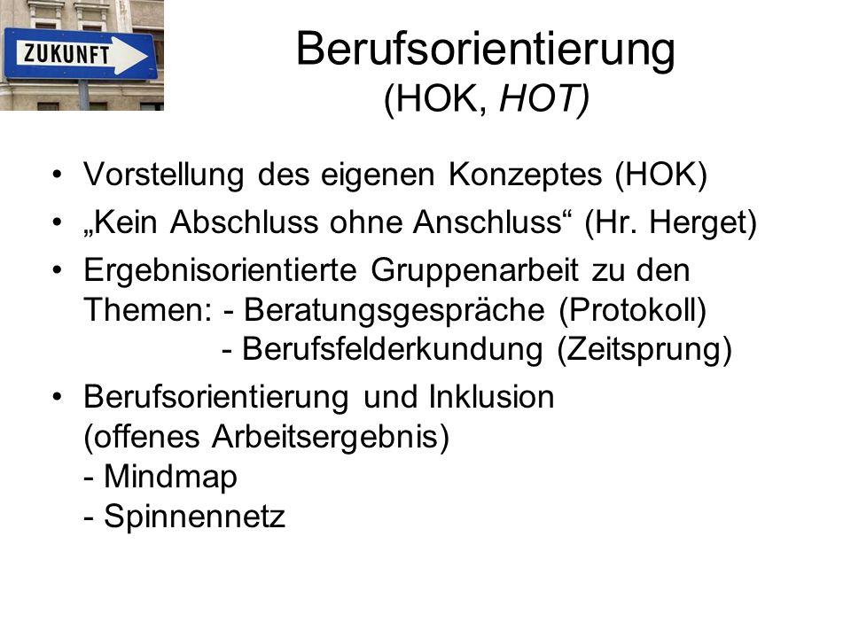 Berufsorientierung (HOK, HOT)