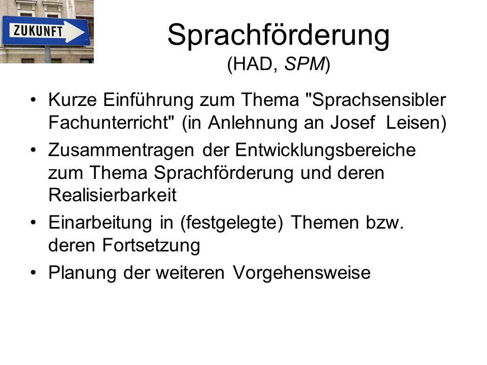 Sprachförderung (HAD, SPM)