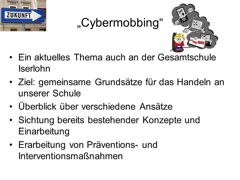 """""""Cybermobbing Ein aktuelles Thema auch an der Gesamtschule Iserlohn"""