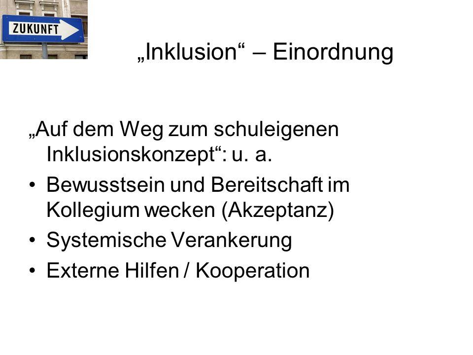 """""""Inklusion – Einordnung"""