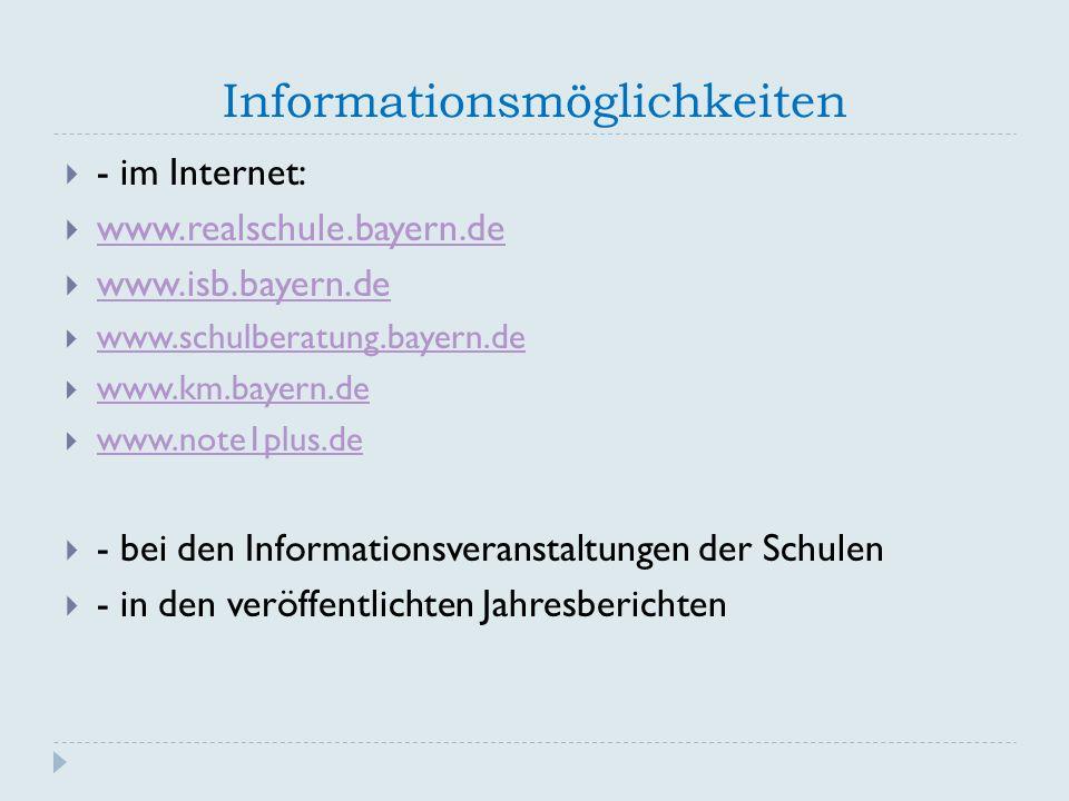 Informationsmöglichkeiten