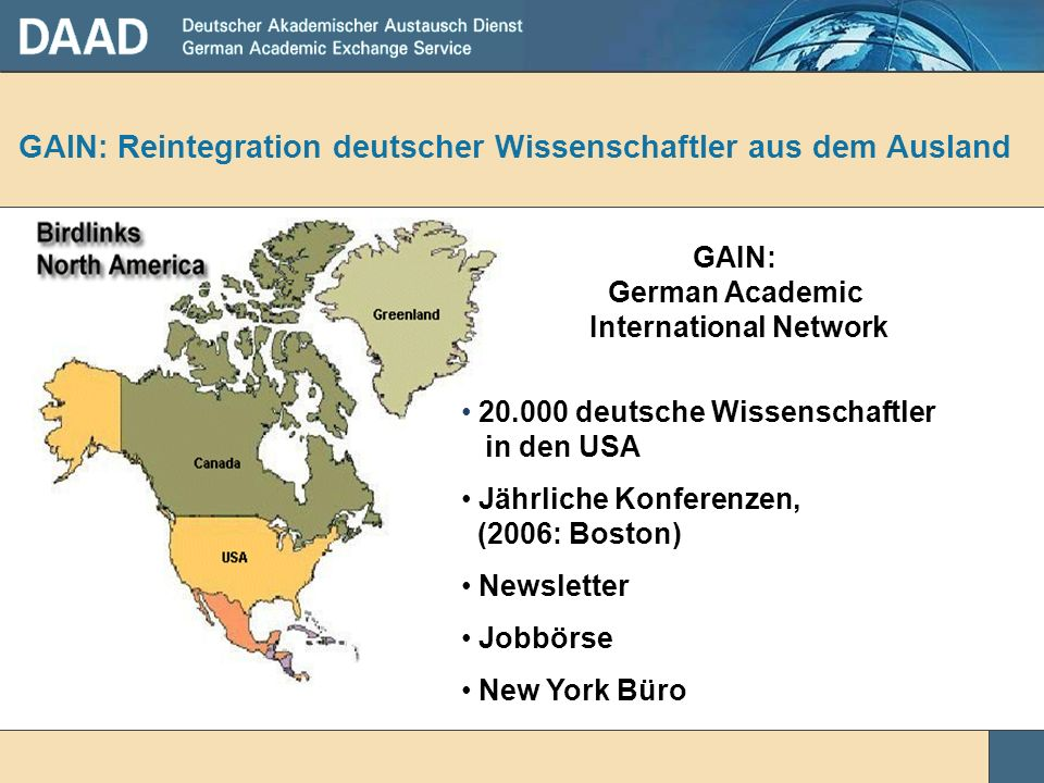 GAIN: Reintegration deutscher Wissenschaftler aus dem Ausland