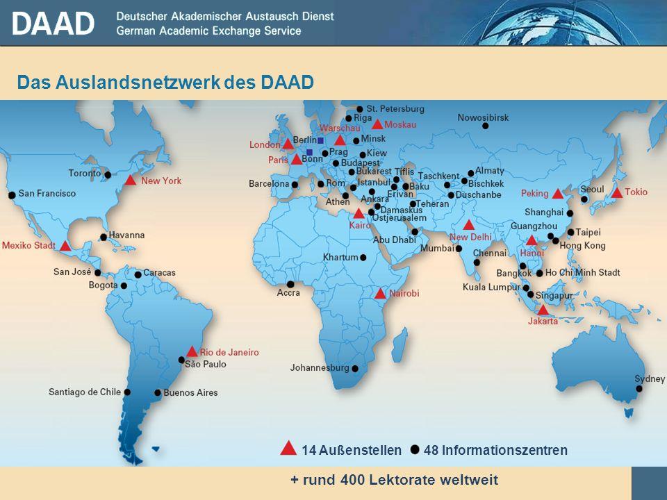 Das Auslandsnetzwerk des DAAD