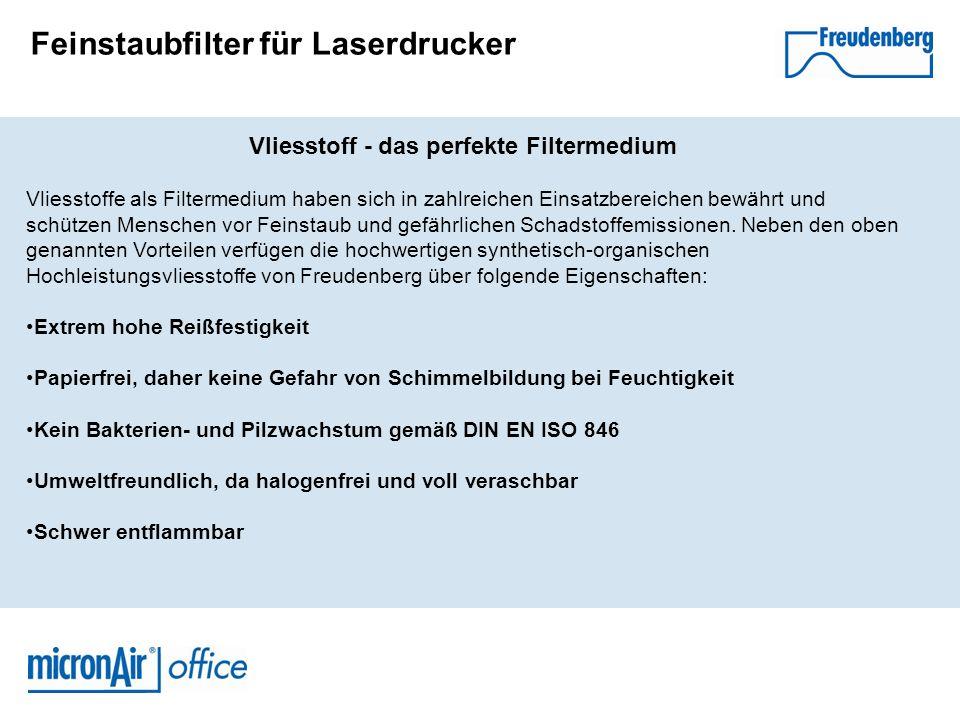 Feinstaubfilter für Laserdrucker