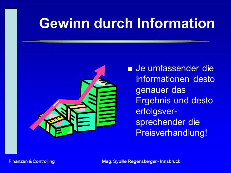 Gewinn durch Information