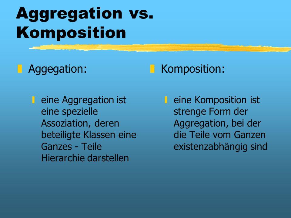 Aggregation vs. Komposition