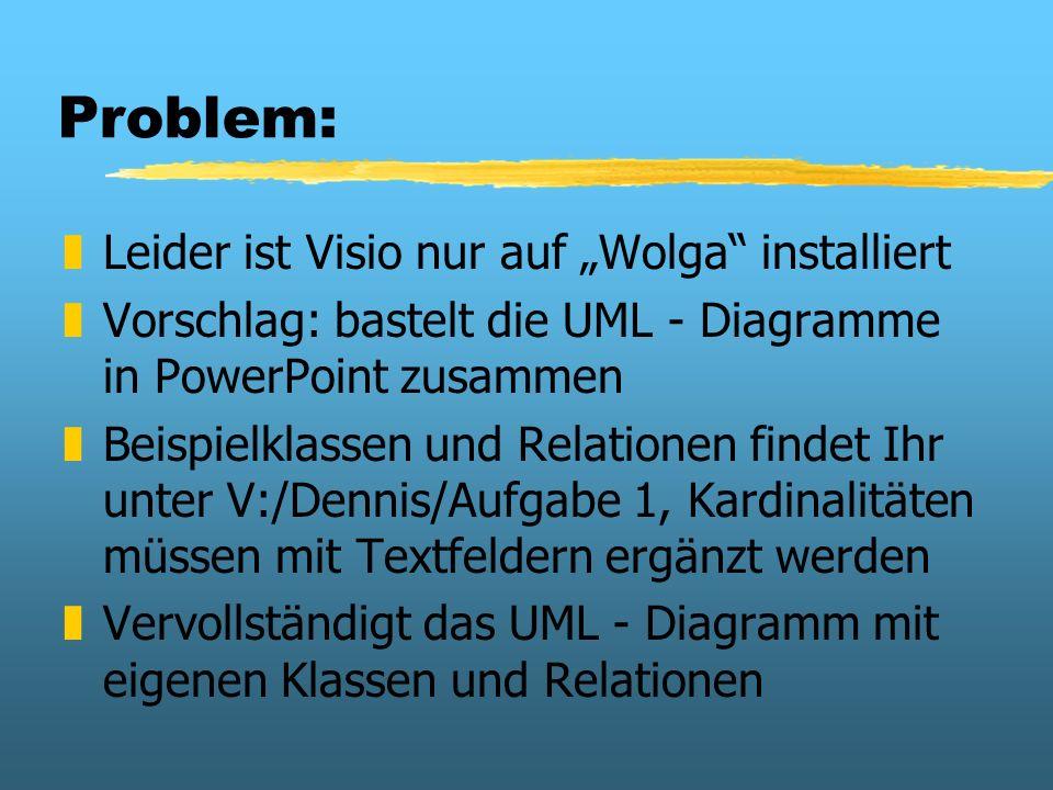 """Problem: Leider ist Visio nur auf """"Wolga installiert"""