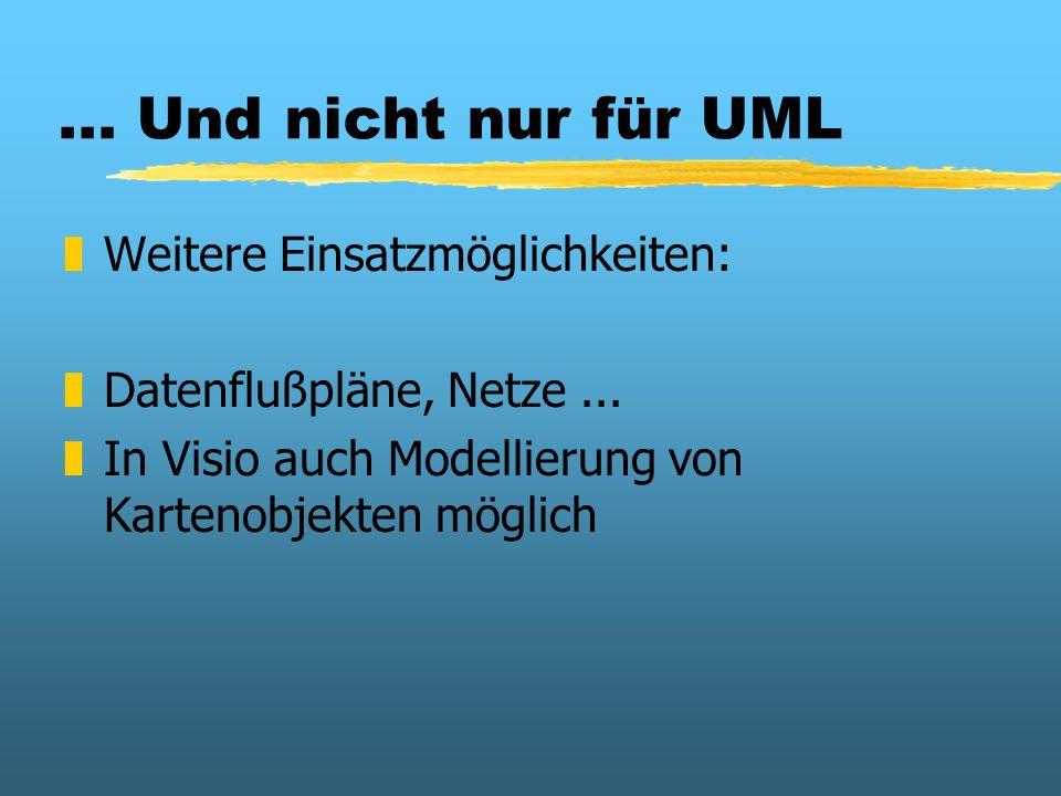 ... Und nicht nur für UML Weitere Einsatzmöglichkeiten: