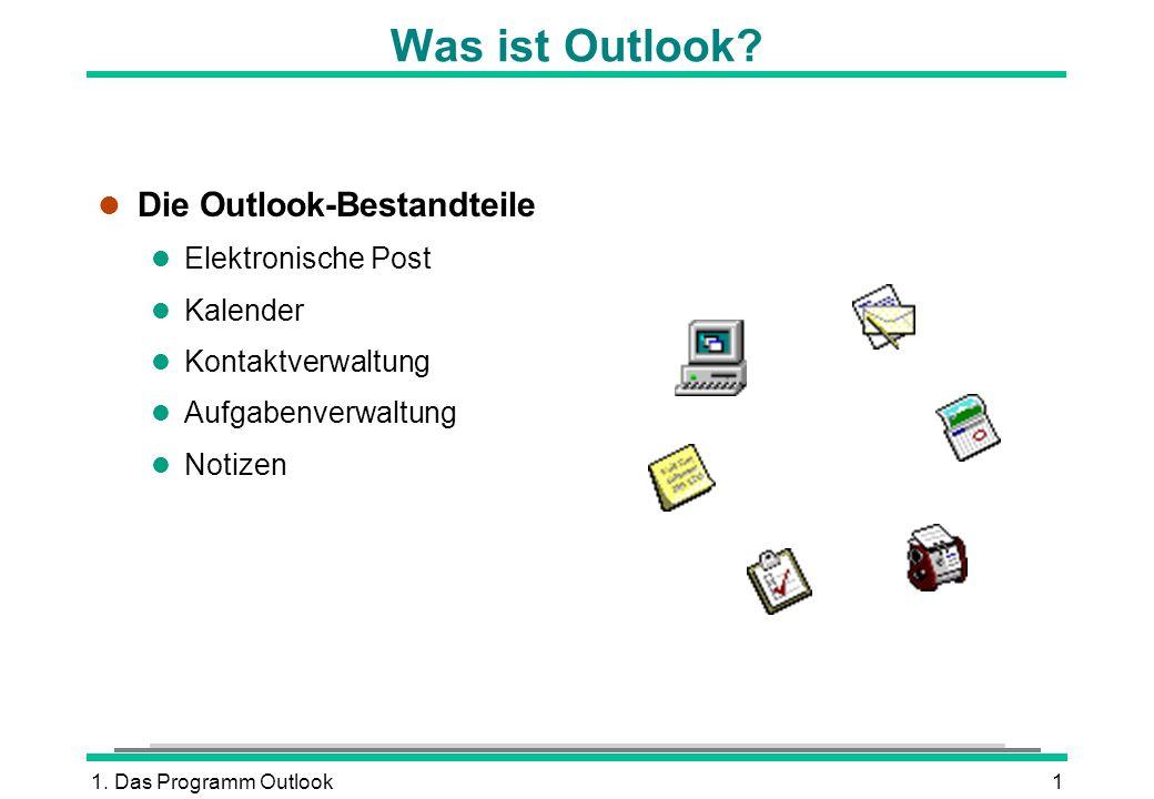 Was ist Outlook Die Outlook-Bestandteile Elektronische Post Kalender