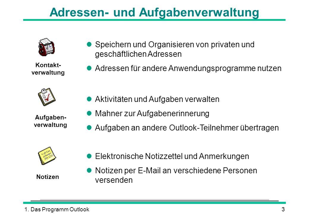 Adressen- und Aufgabenverwaltung