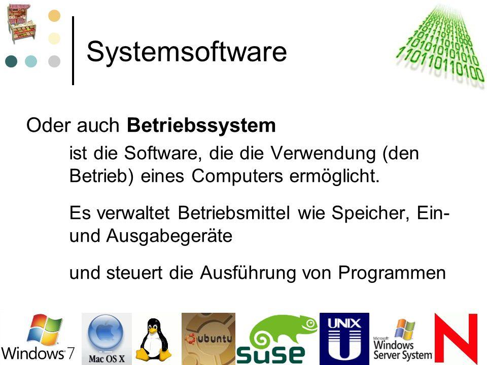 Systemsoftware Oder auch Betriebssystem
