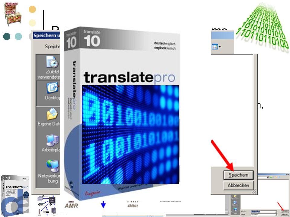 Programme des Betriebssystems