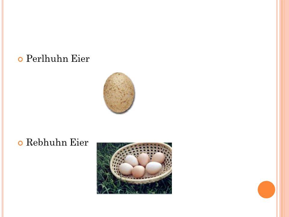 Perlhuhn Eier Rebhuhn Eier