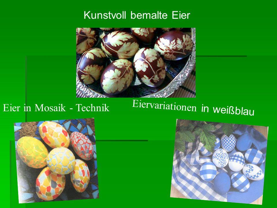 Kunstvoll bemalte Eier