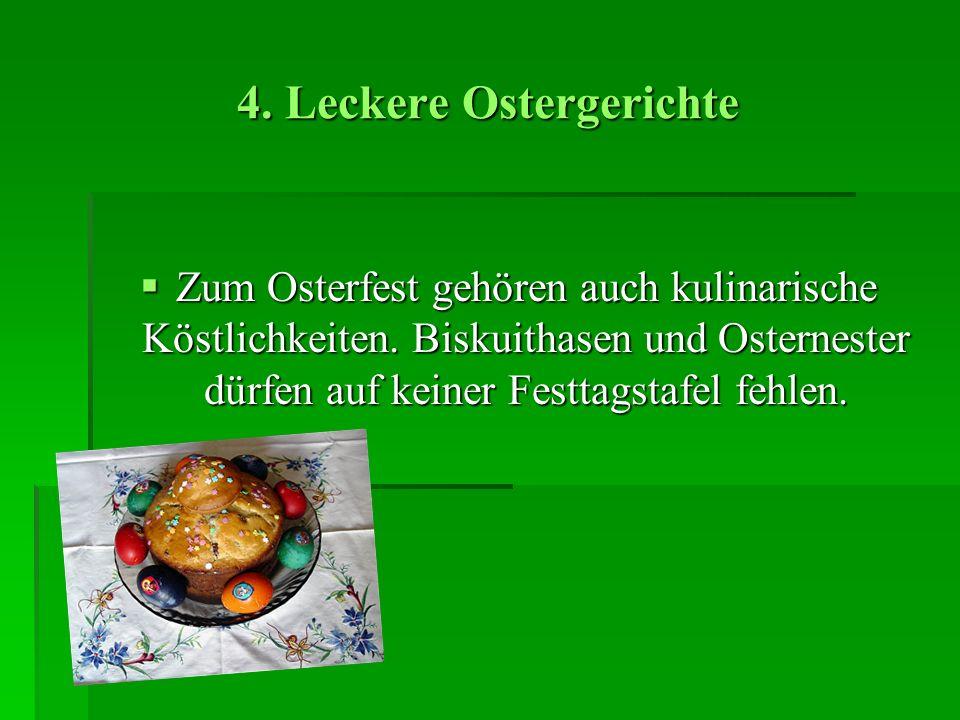 4. Leckere Ostergerichte