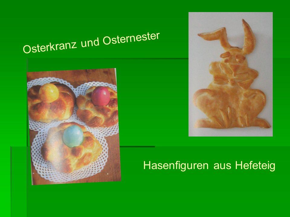 Osterkranz und Osternester